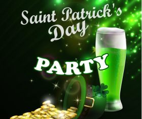 Saint patrick day party flyer with template vectors 11