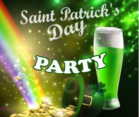 Saint patrick day party flyer with template vectors 12