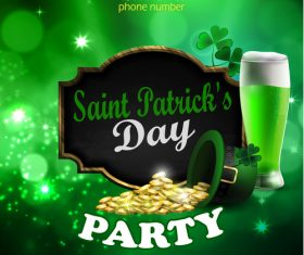Saint patrick day party flyer with template vectors 13