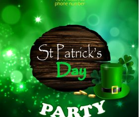 Saint patrick day party flyer with template vectors 14