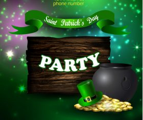 Saint patrick day party flyer with template vectors 15