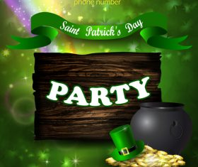 Saint patrick day party flyer with template vectors 16