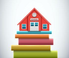 School with book creative design vector