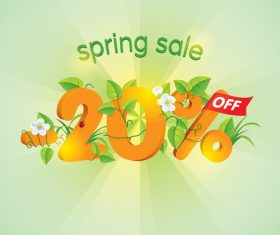 Season Spring Sale 20 Off design vector