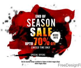 Season sale discount background vector