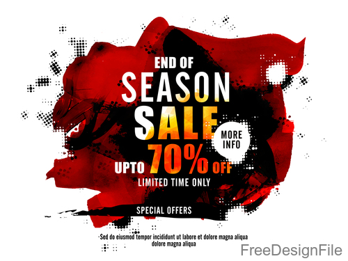 Season sale discount background vector