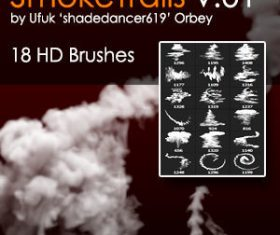 Smoke Trails Photoshop Brushes 01