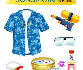 Songkran Day Thailand creative design vector