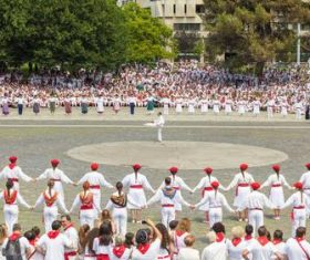 Spanish San Fermin Festival Stock Photo 03