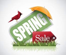 Spring Sale Skewed label vector