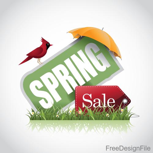 Spring Sale Skewed label vector