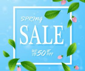 Spring discount with sale background vectors