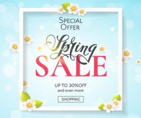 Spring special offer sale background vector