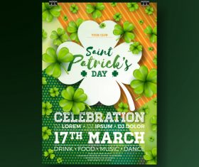 St patrick day festival flyer with poster template vectors 02