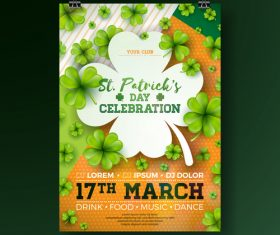 St patrick day festival flyer with poster template vectors 04