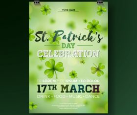 St patrick day festival flyer with poster template vectors 05