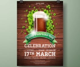 St patrick day festival flyer with poster template vectors 07