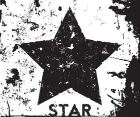 Star grunge retro background vector