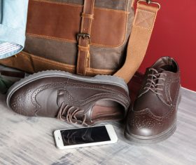 Stock Photo Shoes bag tie stylish mens accessories photo 03