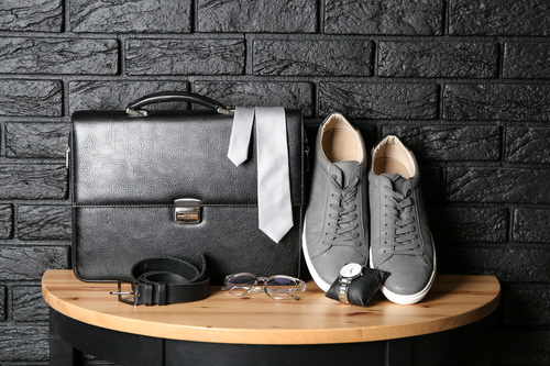 Stock Photo Shoes bag tie stylish mens accessories photo 06