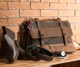 Stock Photo Shoes bag tie stylish mens accessories photo 07