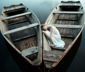 Stock Photo Woman and boat art photo