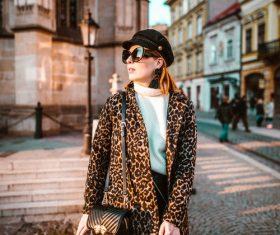 Stock Photo Women wear leopard-print coats
