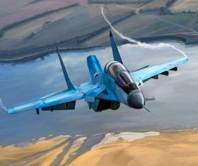 Su-34 Stock Photo
