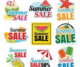 Summer holiday sale sign design vector 01