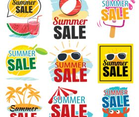 Summer holiday sale sign design vector 02