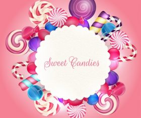 Sweet candie card vector