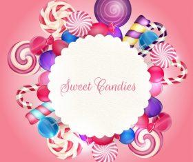 Sweet candie card vector