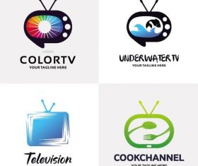 TV logos design vector