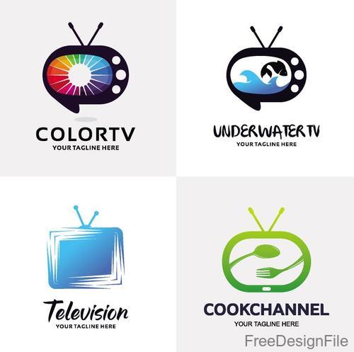 TV logos design vector