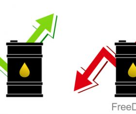 The price of oil sign design vector