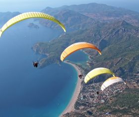 The thrills of paragliding Stock Photo 01