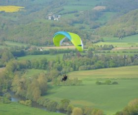 The thrills of paragliding Stock Photo 02
