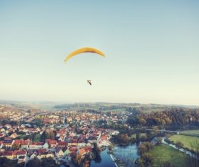 The thrills of paragliding Stock Photo 03