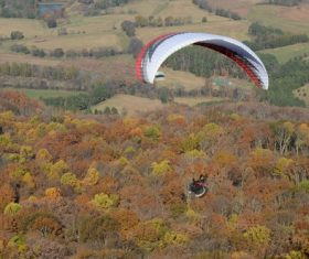 The thrills of paragliding Stock Photo 05