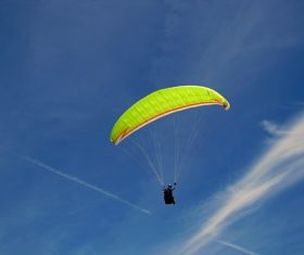 The thrills of paragliding Stock Photo 06