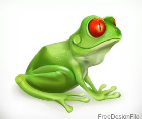 Toad funny cartoon vector