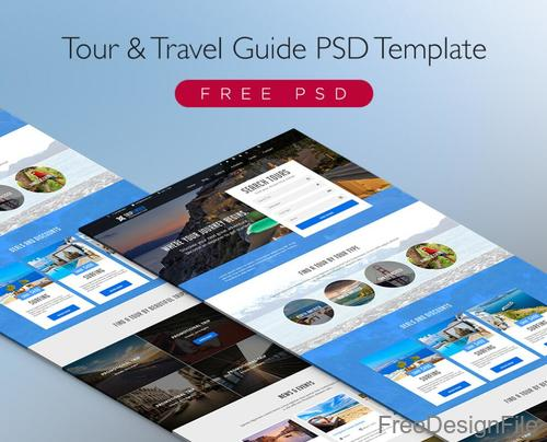 Tour & Travel Guide Page PSD Template
