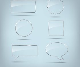 Transparent frame and shadow design vectors