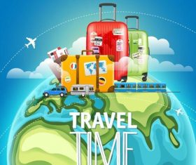 Travel world design elements vector