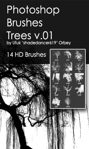 Trees HD Photoshop Brushes