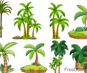 Tropic tree illustration vector