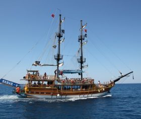 Turkish pirate ship Stock Photo