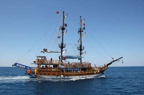 Turkish pirate ship Stock Photo