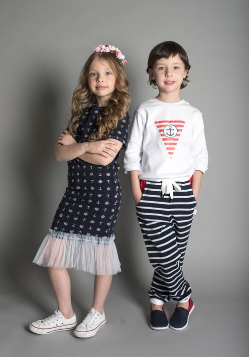 Two little girls posing Stock Photo