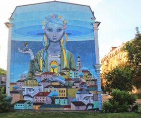 Ukrainian capital Kiev cityscape Stock Photo 04